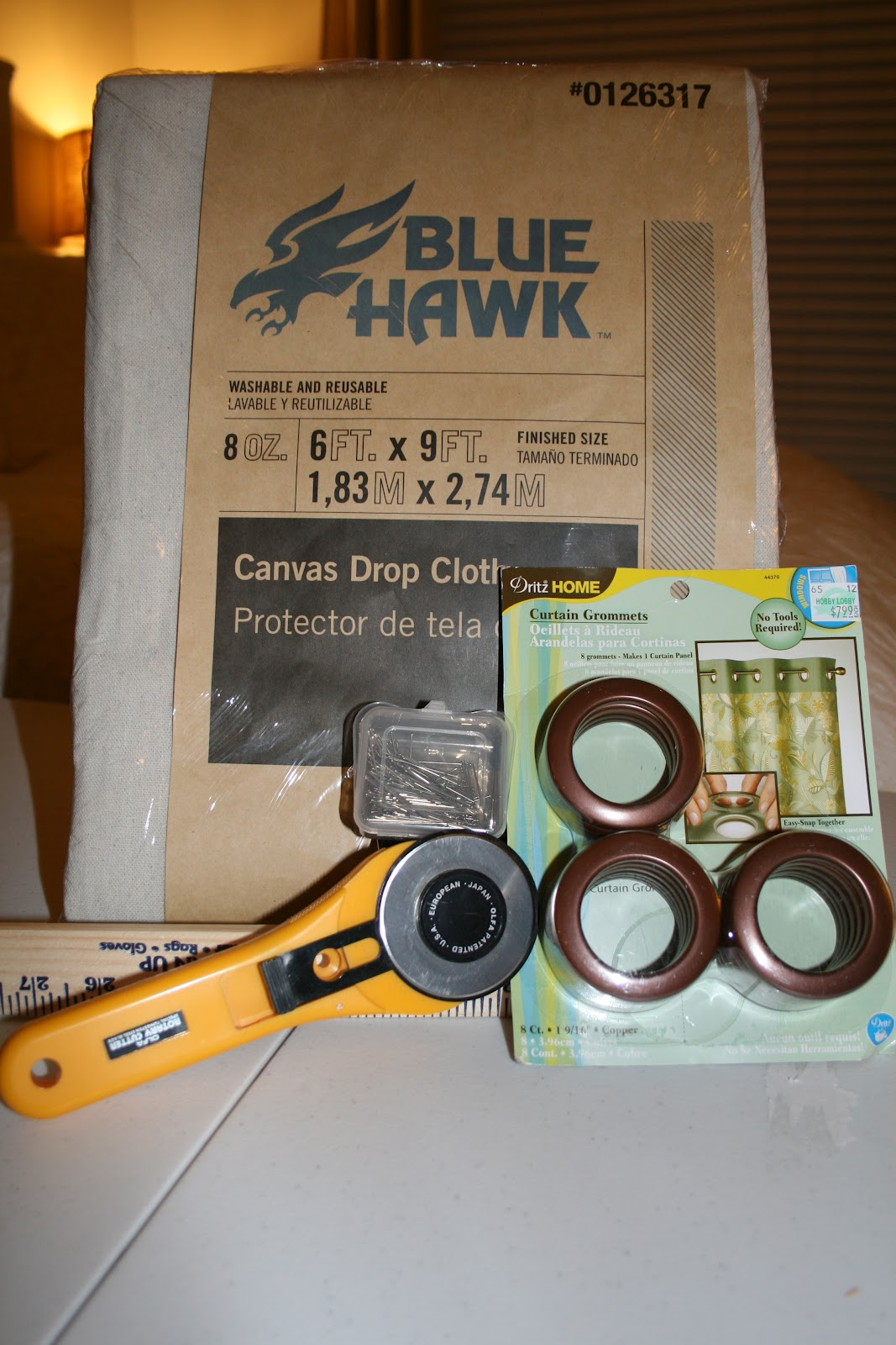 Power Tools And High Heels Drop Cloth Curtains With Grommets