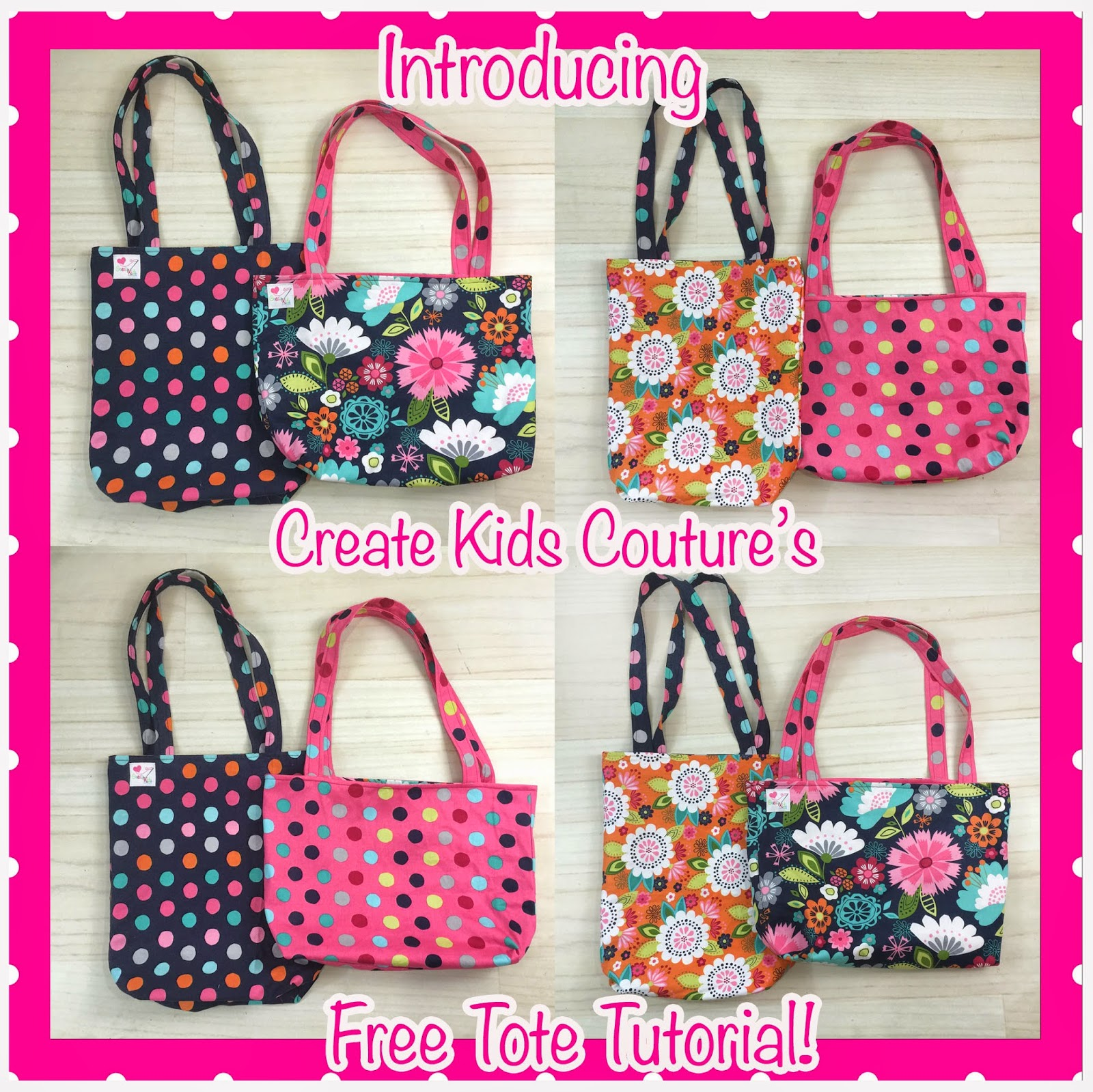 Create kids couture free tote bag tutorial with our tutorial you can make your tote bag either tall or wide depending on what you want to use it for i love that it is fully lined jeuxipadfo Gallery