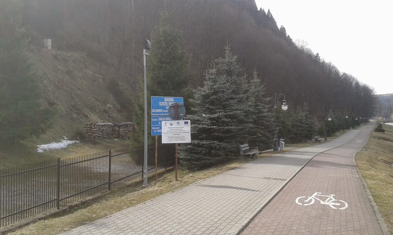 ścieżka rowerowa w Szczawnicy