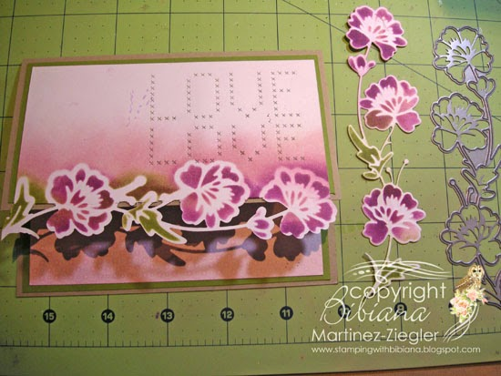 flower border edge card step 4