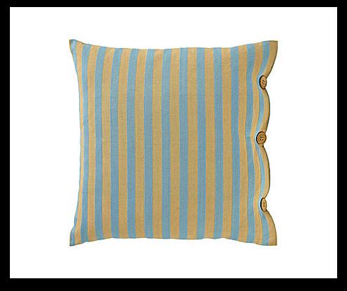 Cojín beige y azul a rayas de algodón falera 45x45 - Westwing Home & Living.png
