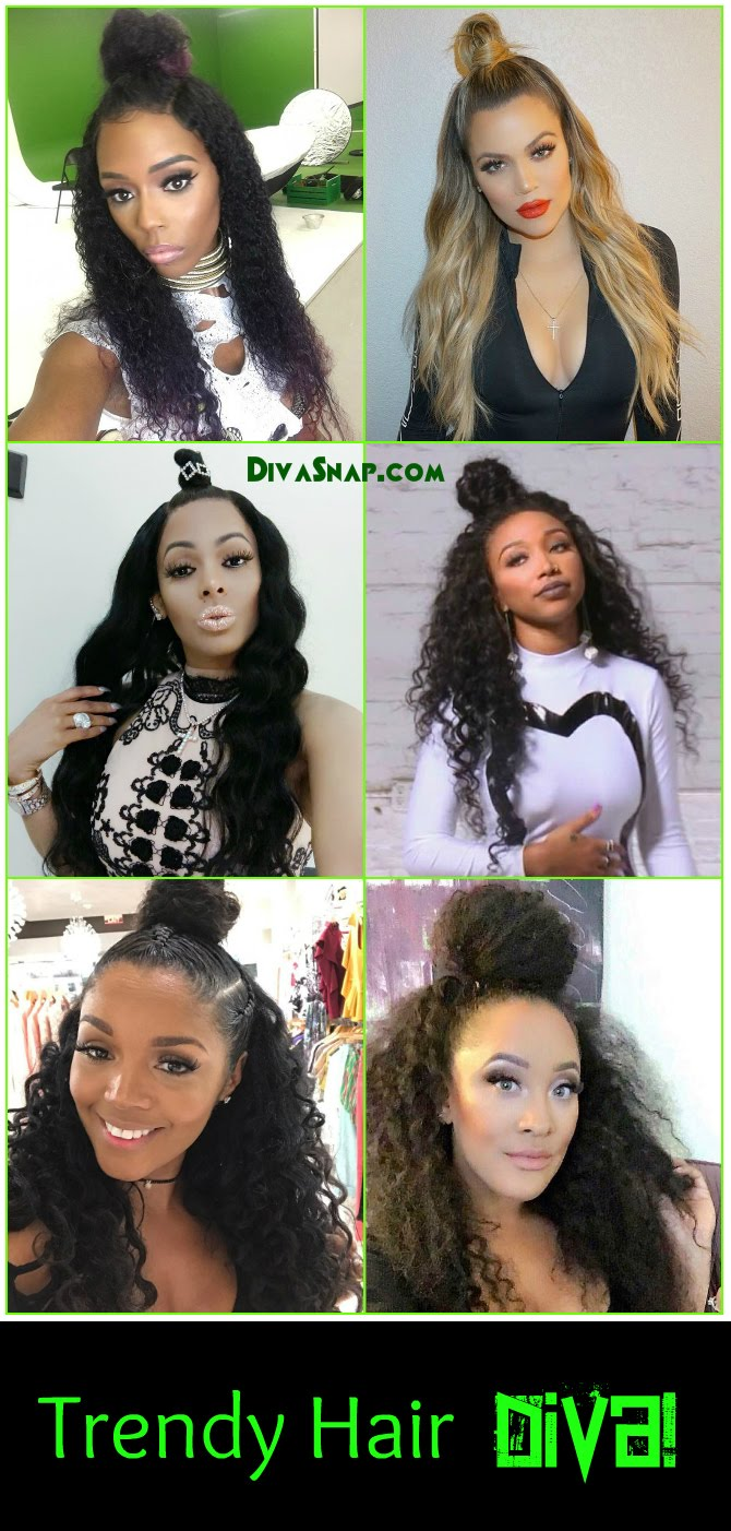 Trendy Hair Diva: Bambi, Keyshia Kaoir & More Rock the Purrty Half Up Bun Hairstyle!