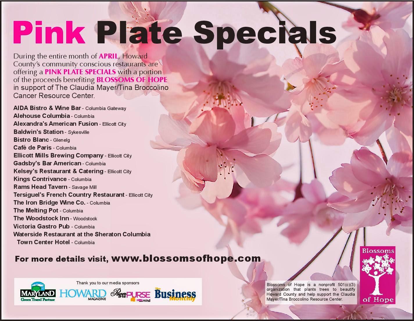 Howchow Pink Plate Specials Restaurants Raising Money In April