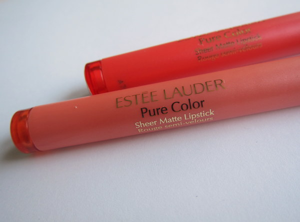 Estee Lauder Pure Color Sheer Matte Lipstick in Naked and Rock Candy