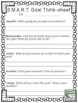 Freebie!  Goal setting for students.