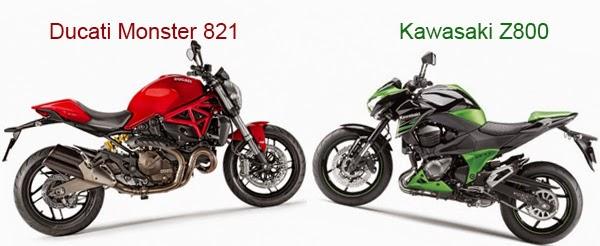 monster 821 vs z800