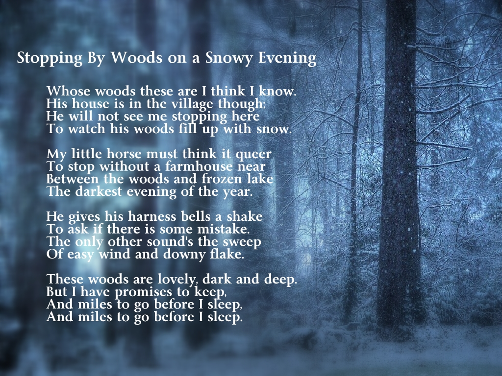Robert Frost Poems Stopping by Woods