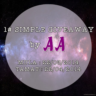 1 SIMPLE GIVEAWAY By AA