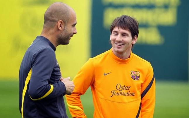 Guardiola y Messi,