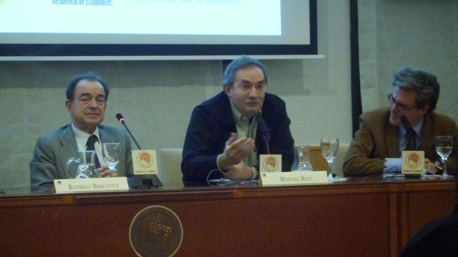 Rodrigo Bercovitz, Manuel Rico y Javier Celaya