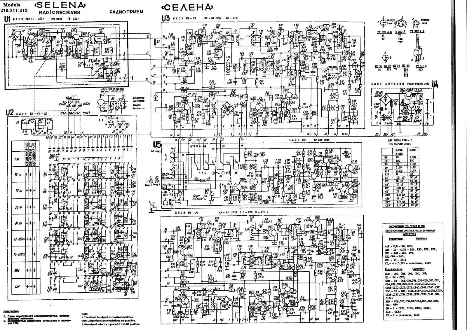 Schemi Elettrici Radio : Air radiorama: ricevitore multigamma selena b210 prodotta in urss