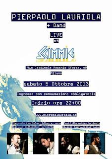 "Il 5 Ottobre Lauriola live alle ""Scimmie""."
