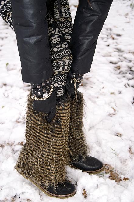 śniegowce z futrem