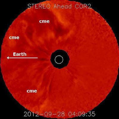Eyección de masa coronal solar 28 de Septiembre 2012