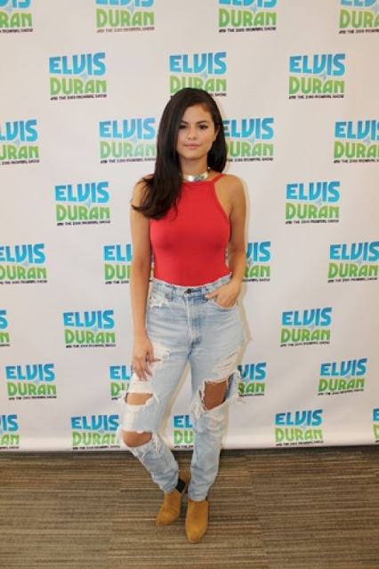 Singer, Actress @ Selena Gomez guesting at the Elvis Duran and The Morning Show in NYC
