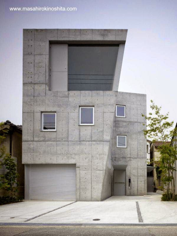 Casa contemporánea japonesa inspirada en el Brutalismo