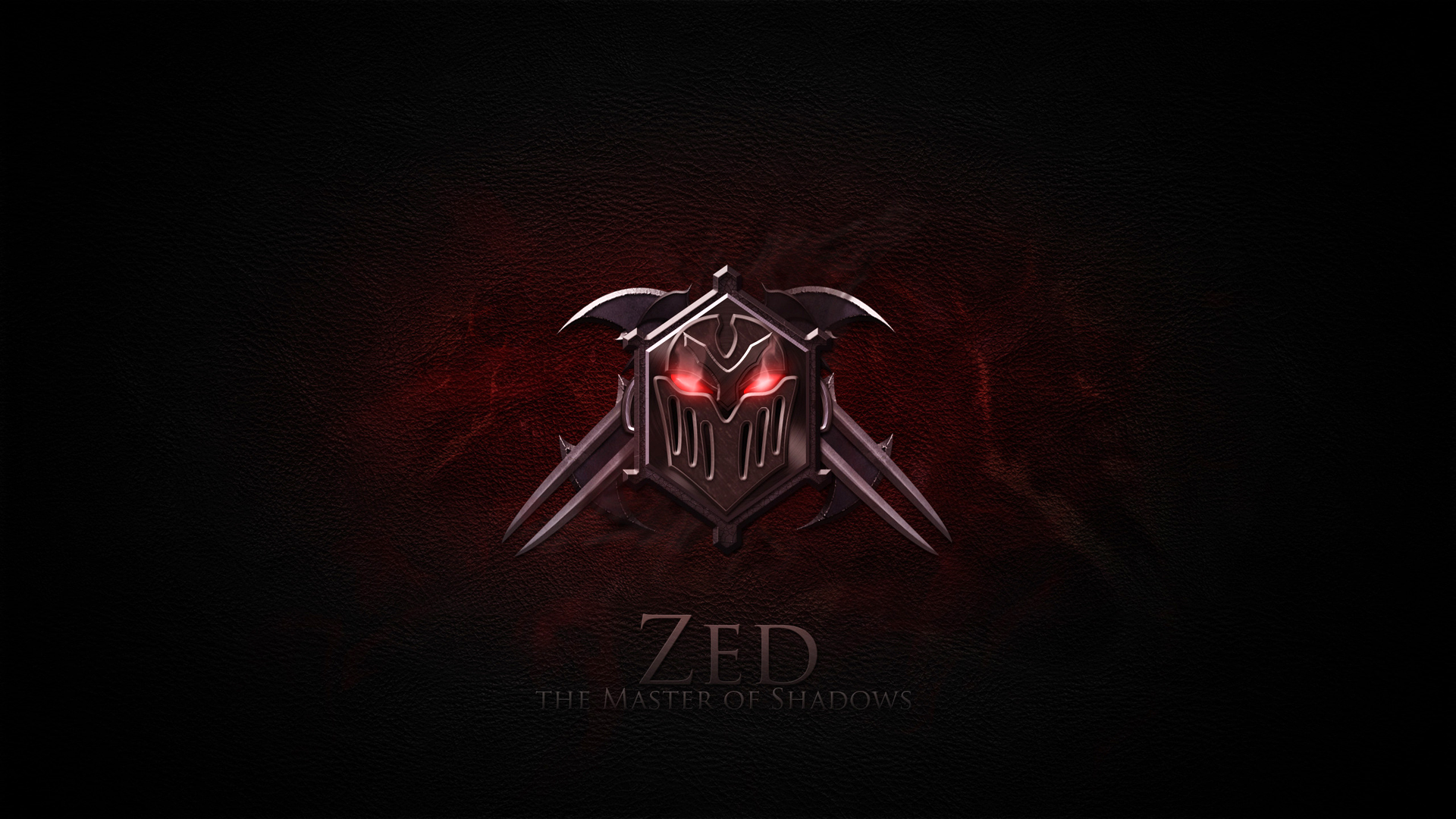 Zed logo icon League of Legends game LoL champion. HD 1920x1080 1080p ...