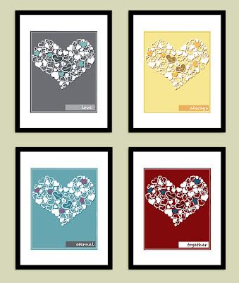 4 Valentine's Love Hearts