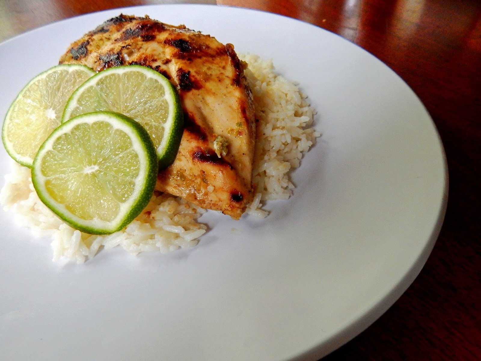 The Nerdy Chef: Caribbean Chicken with Coconut Lime Rice ...