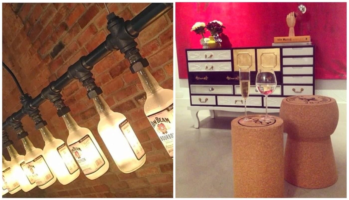 garrafas-luminárias @interioresdesigndecoracao e bancos em forma de rolha @coisasdadoris