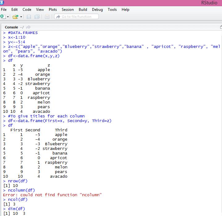 Analytics Blog: Data Frames in R