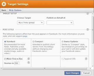 target settings