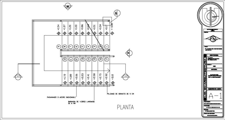 Elementos complementarios de la edificaci n 2015 planos for Escaleras metalicas planos