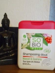 Shampooing doux niaouli et guarana so bio étic