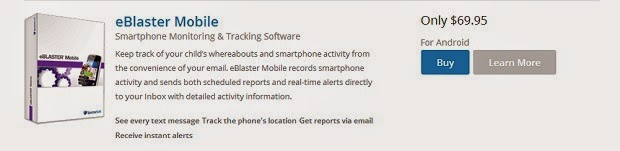 eBlaster monitoring software for smartphones.