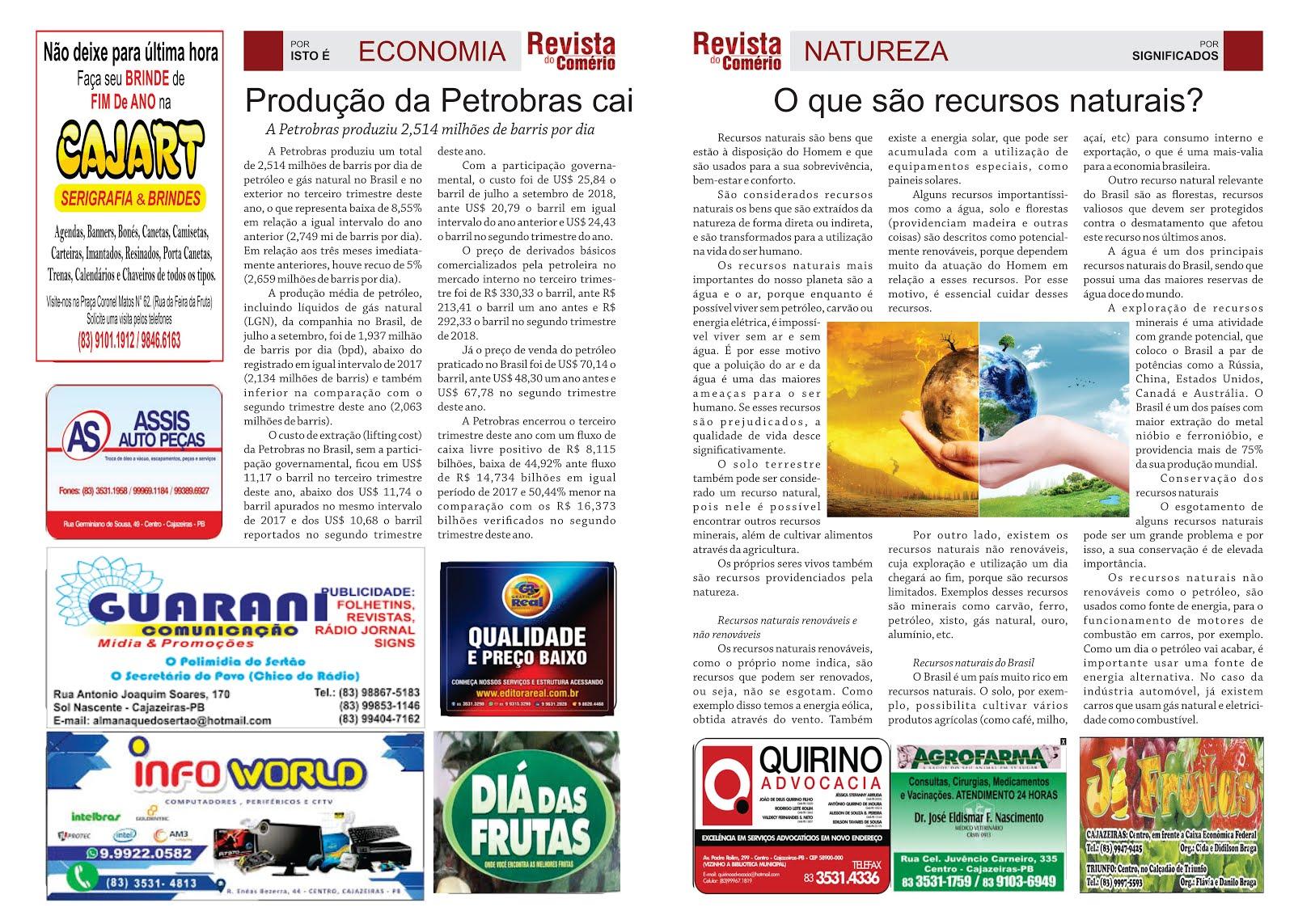 REVISTA DO COMERCIO PB SUPLEMENTO DO GRANDE JORNAL DO ESTADO PB  ON LINE  E  IMPRESSOS