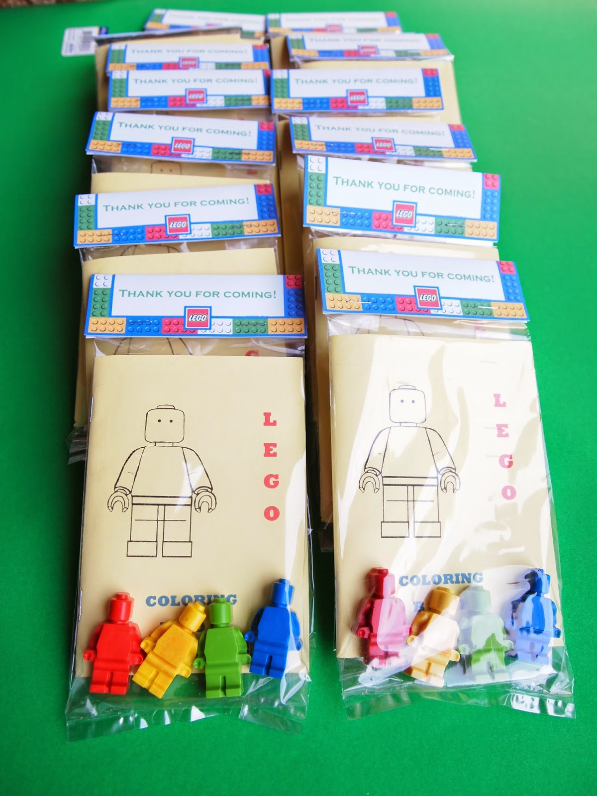 at the end of the party we gave each guest a lego favor bag based on this each bag consisted of lego mini figure crayons and a mini lego coloring book - Diy Coloring Book