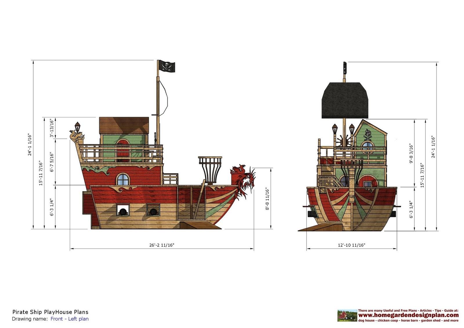 Pirate Ship Plans