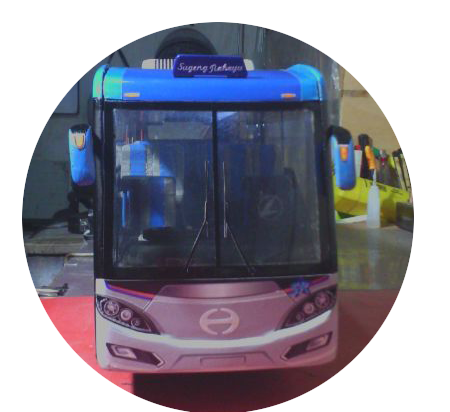 Miniatur Bus Discovery Sugeng Rahayu