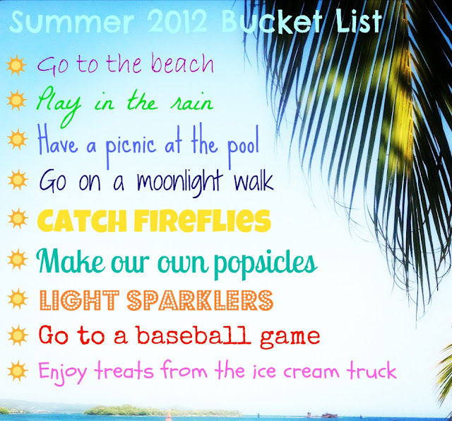 Summer 2012 bucket list