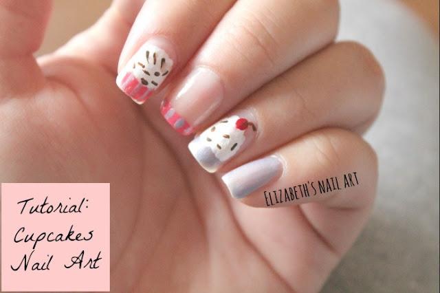 tutorial diseño de uñas cupcakes