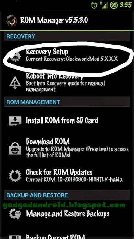 Cara instal CWM Recovery Semua Jenis Android