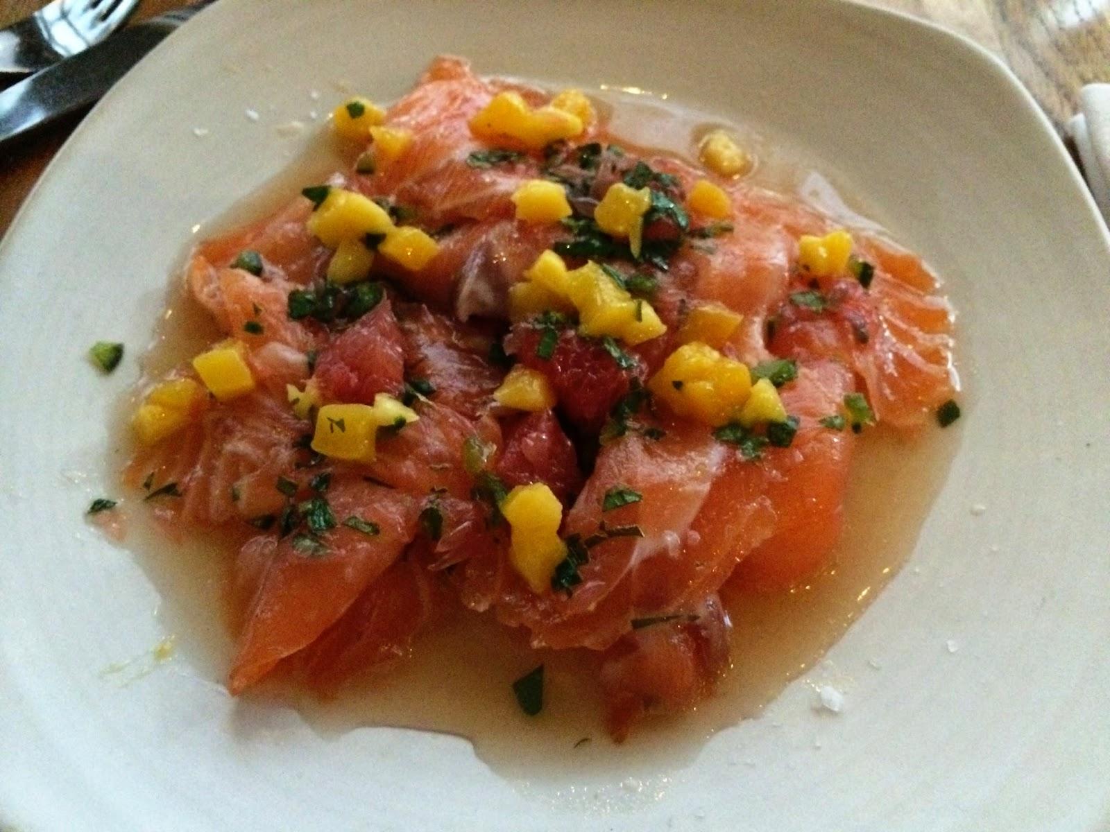 Salmon cerviche - Bread Street Kitchen