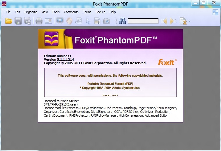 foxit pdf editor crack and serial key free download
