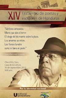 Olanchito, Literatura, literatura de Honduras, poetas y escritores de Honduras