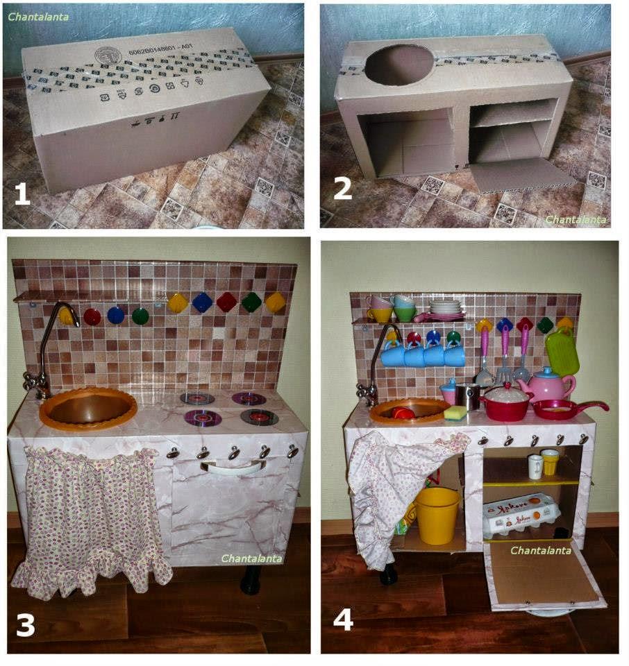 Детские кухни своими руками из коробки