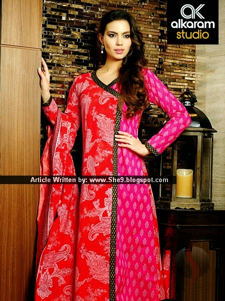 Alkaram Lawn Rangon ki Dunya Collection 2015 Volume-1