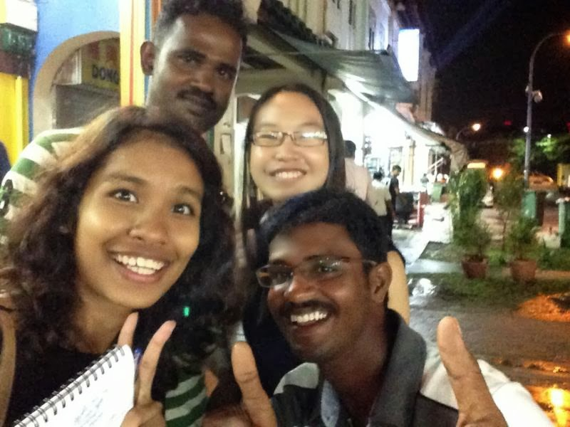 SELFIE TIME: (Clockwise from left) Maryam Mokhtar, landscaper Sundaraj Arumugam, 35, Charissa Yong and site engineer Karthick Muthuraman, 29.