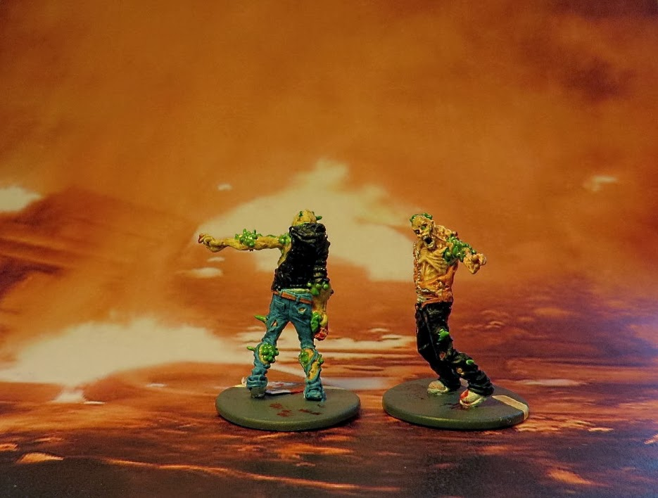 Zombiecide, zombie, painted, walker, toxic, city,