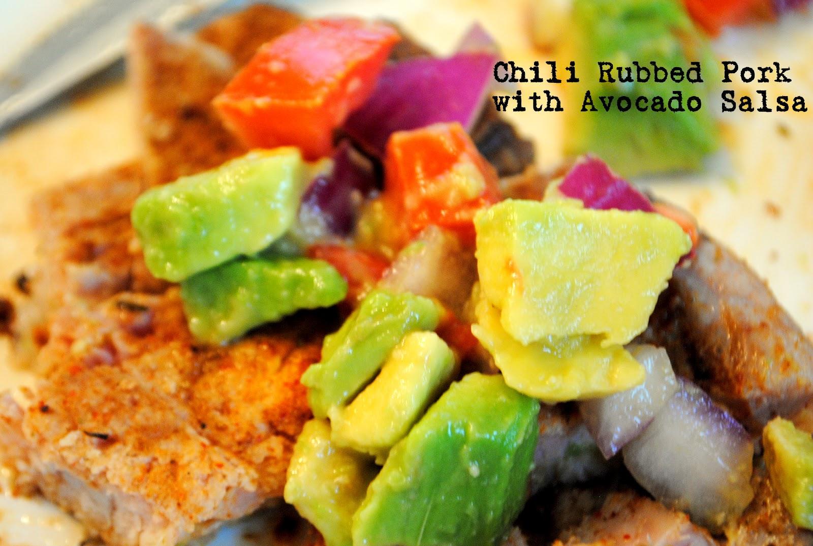 Chili Rubbed Pork Chops With Corn Salsa Recipe — Dishmaps