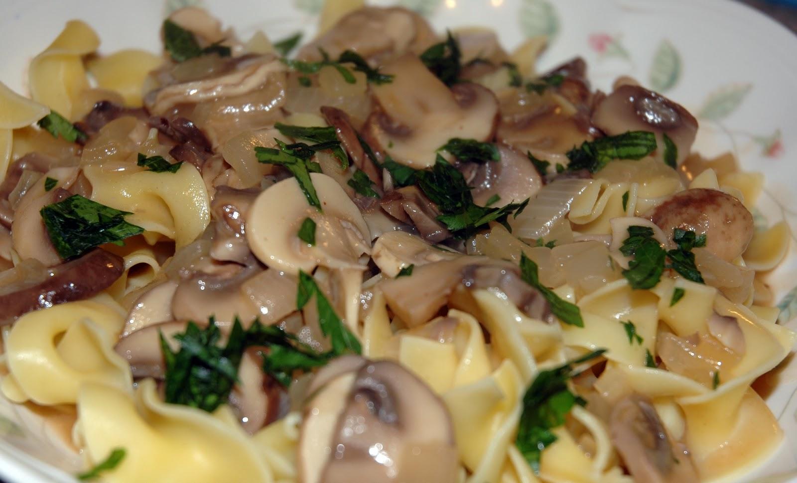 Mushroom Stroganoff ~ Meatless Monday