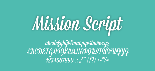 Kumpulan Font Undangan - Mission Script Font