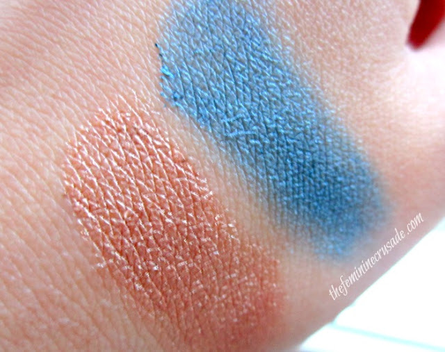 Swatches of Astor 24h Perfect Stay Waterproof Vibrant Eyeshadows