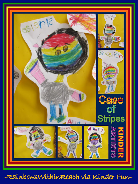 "photo of: ""Bad Case of the Stripes"" Kindergarten Response via RainbowsWithinReach"