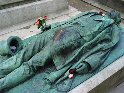 La tumba de Víctor Noir.