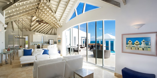 Spacious, open living room of this stunning home